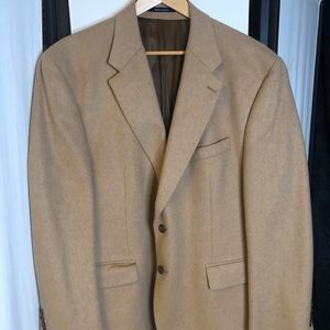Camel hair men's sports coat